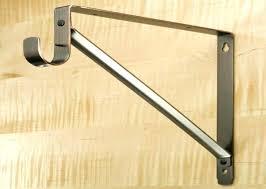 sloped ceiling clothes rod bracket image of closet rod bracket installation sloped ceiling angled brackets ideas