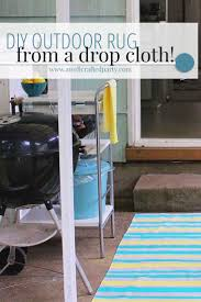 diy outdoor rug from a drop cloth paint a super easy diy from a