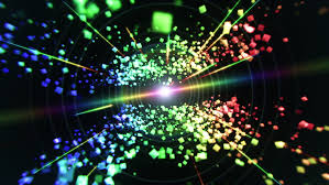 Rainbow Cubes And Laser Lights Stock Footage Video 100 Royalty