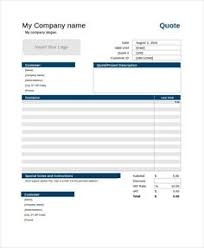Microsoft Excel Quotation Templates Project Management