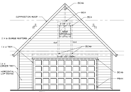 a diagram of the front of a garage