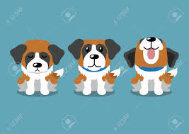 Cartoon Character Saint Bernard Dog ...