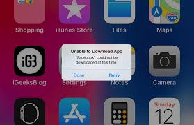 Unable To Update Or Download Facebook App On Iphone Or Ipad