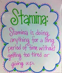 Reading Stamina Chart For Kindergarten Www