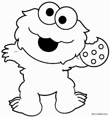 Monster Coloring Ps25 Printable Cookie Monster Coloring Pages For