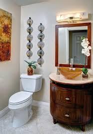 powder room wall art transitional with vessel sink for ideas 3 decor bathroom wallpaper