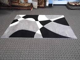 black white gray rug