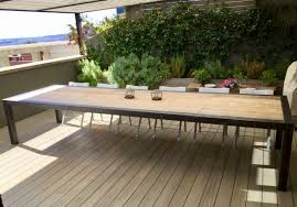 we make tables of iron rusted iron iron with wood or rusted corten steel of long dimensions 2 3 4 and up to 6 meters long