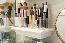 small bathroom makeup storage ideas. Small Shelves In Bathroom For Makeup Brushes Storage Ideas H