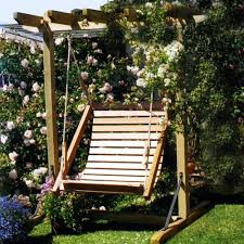 Single Swing With Frame - garden swings, swing seats, adirondack chairs,  wooden furniture