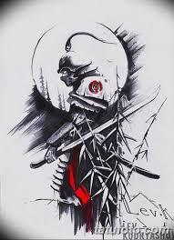 тату самурай на руке эскиз 08032019 002 Tattoo On Hand