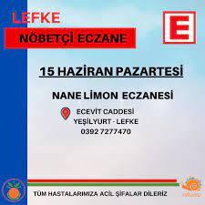 15 Haziran Pazartesi Nöbetçi Eczane... - Lefke Belediyesi  