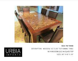 wood base dining table dining dining table glass top wood base