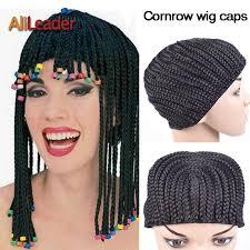 <b>Alileader</b> Top Clip In <b>Cornrow</b> Crochet <b>Braided</b> Wig Cap Good ...