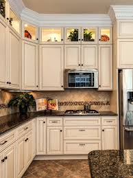 cream kitchen cabinets with black countertops. Best Backsplash For Cream Cabinets Discover Dark Kitchen With Black Countertops I