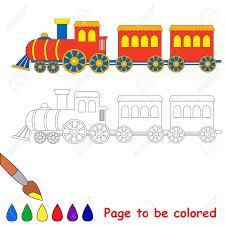 Download or print train engine coloring page for free plus other related trains coloring page. Toy Red Blue Locomotive Train Engine Car Coloring Book For Kids Royalty Free Cliparts Vectors And Stock Illustration Image 45507980