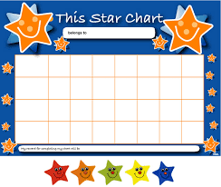 children rewards charts sample star chart template