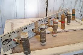 Wooden Mallet Coat Rack Reclaimed Croquet mallet wood coat rack wall decor shabby cottage re 47