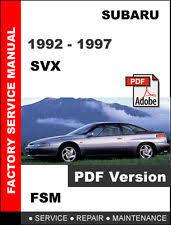 subaru svx manual subaru svx 1992 1997 oem factory service repair fsm manual wiring diagram
