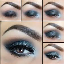 blue smokey eye makeup tutorial 2016
