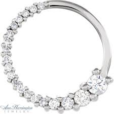 14k white or yellow gold 1 5 or 1 2 ct tw journey diamond pendant ann harrington jewelry inc