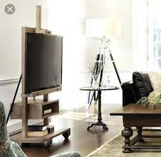 easel tv stand diy