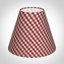 candle shade in postbox red gingham discontinued only stock shown available