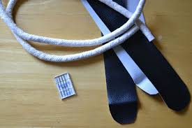 3 8 cording would probably create the size handles in the picture wrap the ends of your cording with