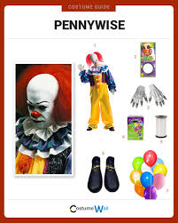 the best costume guide for dressing up like pennywise the dancing clown who terrorizes children in the stephen king horror novel it