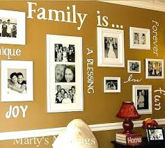 picture frame designs on walls combine vinyl decals and family photos picture frame patterns walls photo frame designs on walls