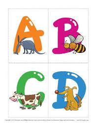 Free Alphabet Flash Cards Animal Alphabet Flashcards Vocabulary Worksheets