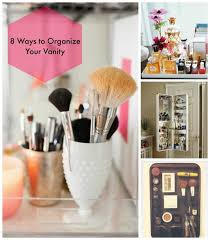 8 ways to organize makeup vanity
