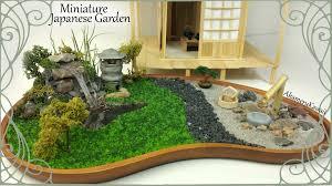 Miniature Japanese inspired Garden w/ working Lantern - Tutorial - YouTube