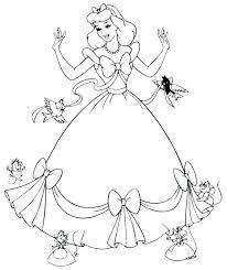 Coloring Pages Of Disney Princesses Princess Printable Coloring