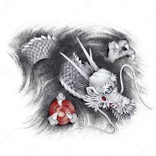 тату дракона на кисть Japanesque дракон стоковое фото