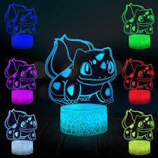 Manga Bulbasaur Pokemon Trò Chơi 3D Đèn Phim Hoạt Hình Nhật Bản Anime Bầu  Không Khí DẪN Ánh Sáng Ban Đêm USB Cảm Ứng RGB Tâm Trạng Chiếu Sáng BÉ ĐỒ  CHƠI|