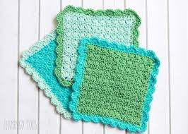 Easy Crochet Dishcloth Patterns Delectable Easy Crochet Dish Cloth Pattern
