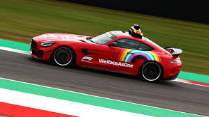 <b>Safety Car</b> sports special red livery at Mugello to celebrate Ferrari's ...