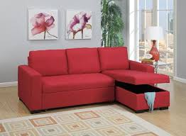 sectional sofa bed with storage. Carmine Red Fabric Sectional Sofa Bed With Storage Chaise T