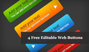 4 Free Editable And Resizable Web Buttons Azmind