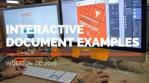 Interactive Document Examples Adobe Indesign Cc Youtube
