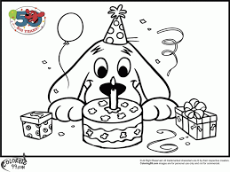 Small Picture Printable Happy Birthday Coloring Pages With Dogs Coloring Home