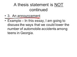 the thesis statement by mimi taylor a thesis statement is not  3 a