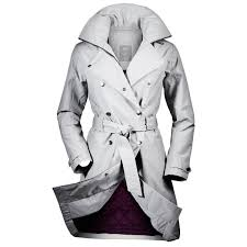 helly hansen womens welsey waterproof insulated trench coat light grey xl