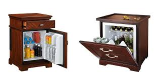 refrigerator end table. with a wooden nightstand and fridge combined your beer soda cans or sandwiches will always be refrigerator end table e