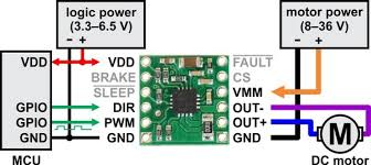 pololu drv8801 single brushed dc motor driver carrier minimal wiring diagram for connecting a microcontroller to a drv8801 single brushed dc motor driver carrier