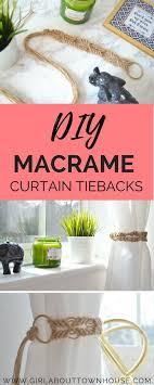 diy macrame hanging chair new diy macrame curtain tie backs tutorial stock