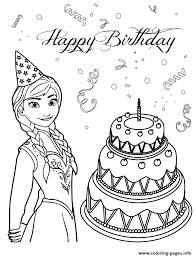 Small Picture Anna Loves Birthday Cake Colouring Page Coloring Pages Printable