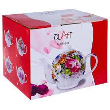 Заварочный <b>чайник Olaff TEAPOT</b> ФЛОРА 124-01079, 1 л в Санкт ...