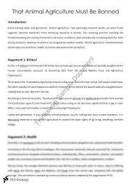 english persuasive speech that animal agriculture must be banned  english persuasive speech that animal agriculture must be banned
